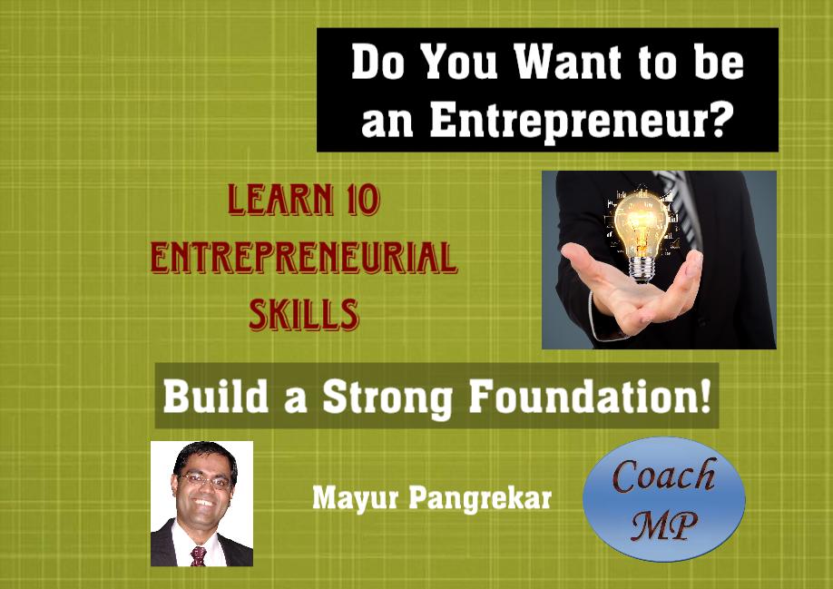 Learn 10 Entrepreneurial Skills